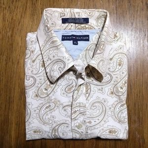 Tommy Hilfiger Tan Button Down Top